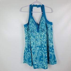Swim 365 Swim Dress With Built In Shelf Padded Bra